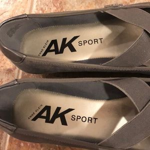 Anne Klein Sport Shoes - Gray flats with straps